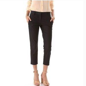 Theory 'Yanette C' Black Cropped Pants Sz 0